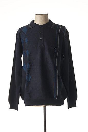 Pull col chemisier bleu BERAC pour homme
