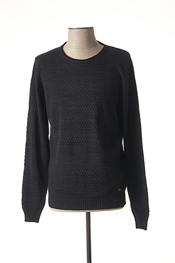 Pull col rond violet DELAHAYE pour homme