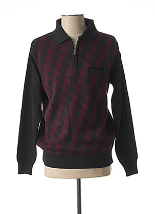 Pull col chemisier rouge GIORGIO BELLINI pour homme