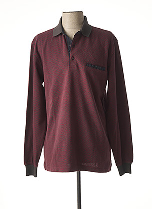 Polo manches longues rouge GIORGIO BELLINI pour homme