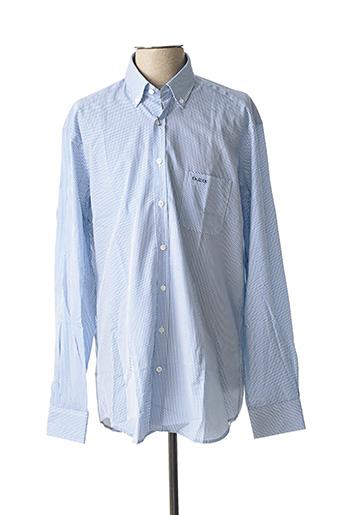 Chemise manches longues bleu MISE AU GREEN pour homme