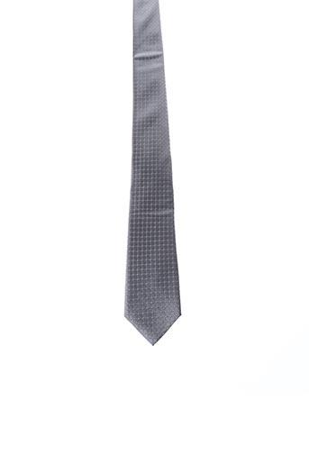 Cravate gris JEAN CHATEL pour homme