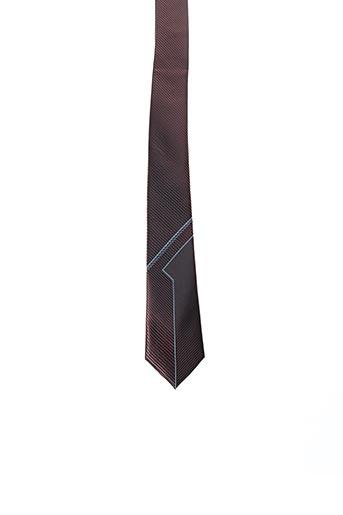 Cravate marron TOUCHE FINALE pour homme