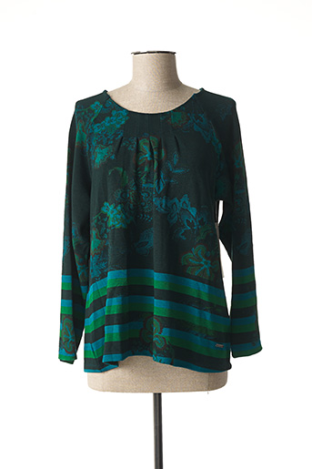 Pull col rond vert AGATHE & LOUISE pour femme