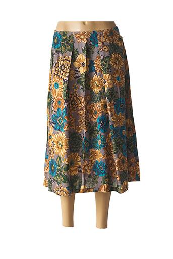 Jupe mi-longue marron AGATHE & LOUISE pour femme