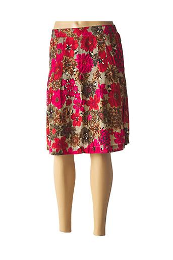 Jupe mi-longue rouge AGATHE & LOUISE pour femme