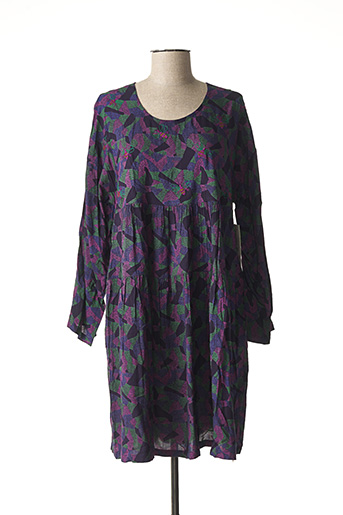Robe mi-longue violet AGATHE & LOUISE pour femme