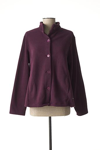 Veste casual violet AGATHE & LOUISE pour femme