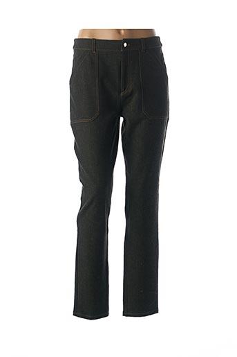 Jeans coupe droite vert BLEU BLANC ROUGE pour femme