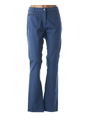 Pantalon casual bleu JULIE GUERLANDE pour femme