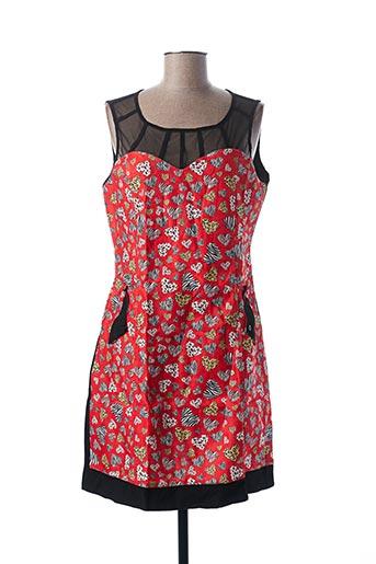 Robe courte rouge L33 pour femme