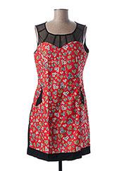 Robe courte rouge L33 pour femme seconde vue