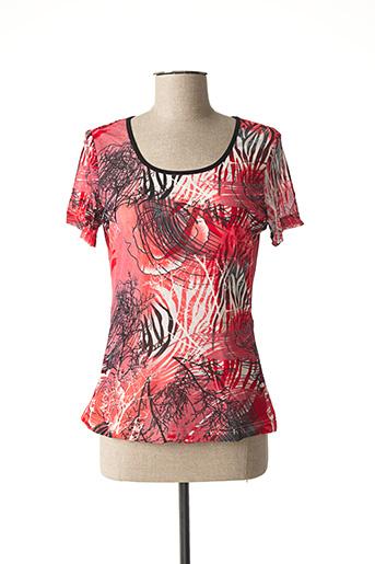 T-shirt manches courtes rouge L33 pour femme