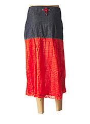 Jupe mi-longue orange L33 pour femme seconde vue