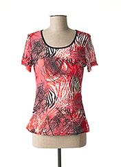 T-shirt manches courtes rouge L33 pour femme seconde vue