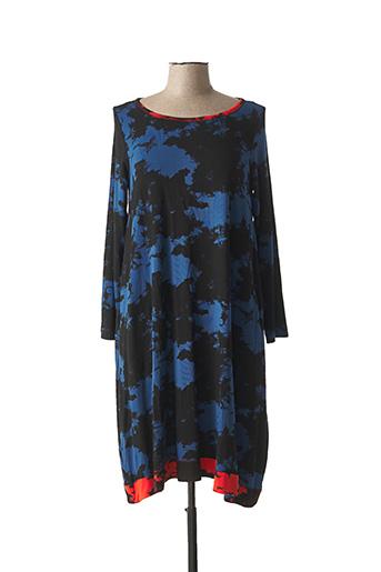 Robe mi-longue bleu ALEMBIKA pour femme