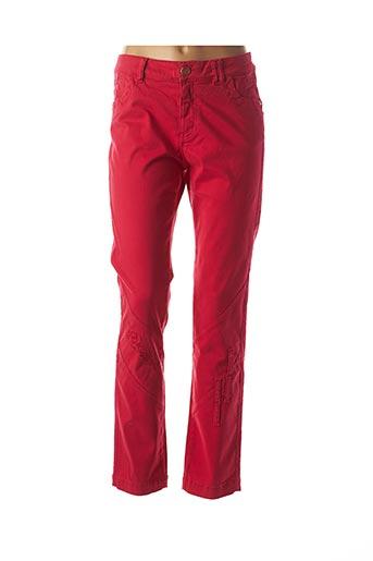 Pantalon casual rouge ELISA CAVALETTI pour femme