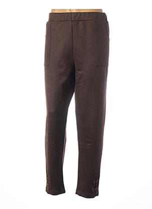 Pantalon casual marron FRANCK ANNA pour femme