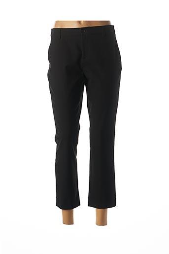 Pantalon 7/8 noir DENIM STUDIO pour femme