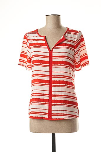 T-shirt manches courtes rouge AKOZ pour femme