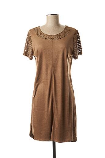 Robe courte marron AKOZ pour femme