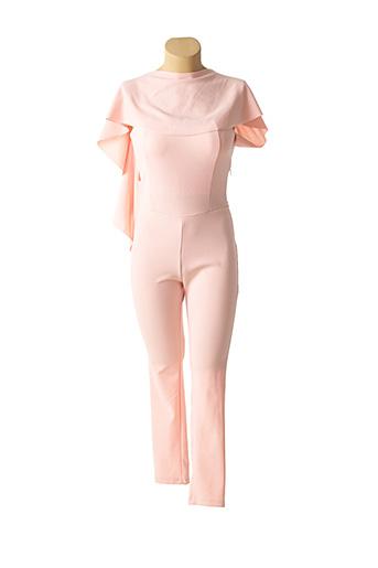 Combi-pantalon rose CARLA CELSI pour femme