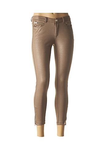 Pantalon 7/8 beige TOXIK3 pour femme