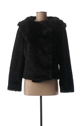 Manteau court noir MAELO pour femme