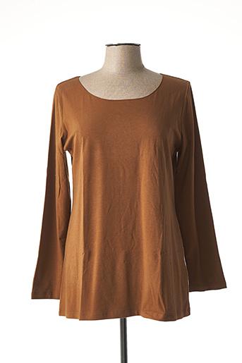 T-shirt manches longues marron CREA CONCEPT pour femme