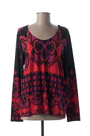 T-shirt manches longues rouge BIANCA pour femme