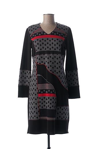 Robe pull gris FRANCE RIVOIRE pour femme
