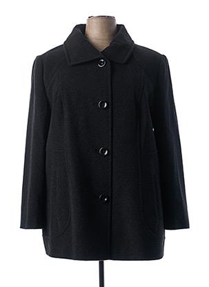 Manteau long noir COULEURS DU TEMPS pour femme