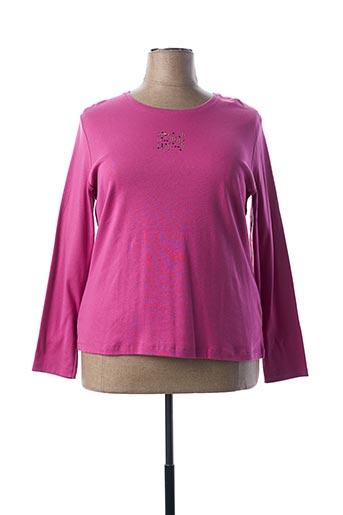 T-shirt manches longues rose GUY DUBOUIS pour femme