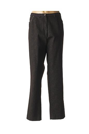 Pantalon casual marron FRANCE RIVOIRE pour femme