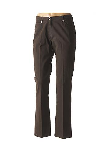 Pantalon casual vert FRANCE RIVOIRE pour femme