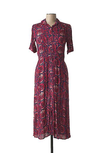 Robe mi-longue rouge AN' GE pour femme