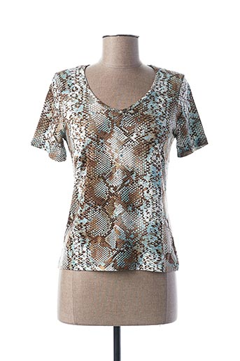 T-shirt manches courtes marron DANEVA pour femme
