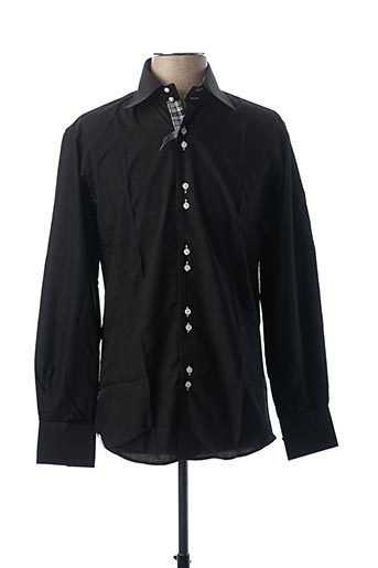 Chemise manches longues noir ENNE pour homme