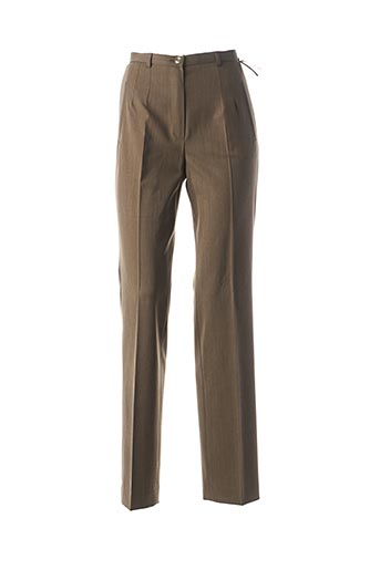 Pantalon chic marron SAINT HILAIRE pour femme
