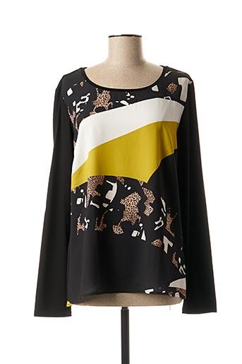 T-shirt manches longues noir ELENA MIRO pour femme