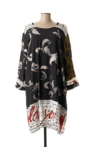 Robe mi-longue noir FRANCK ANNA pour femme