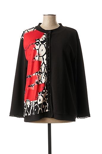 Veste casual noir FRANCK ANNA pour femme