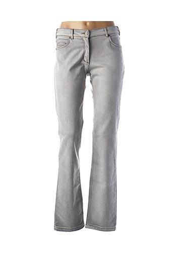 Jeans coupe slim gris VOODOO pour femme