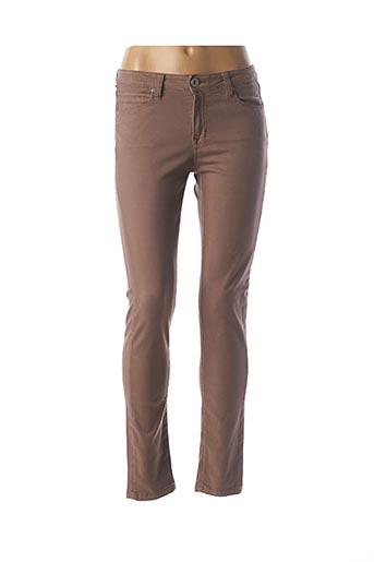 Pantalon casual marron DENIM STUDIO pour femme