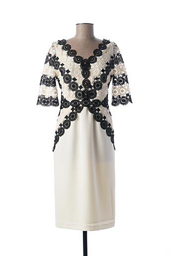 Robe mi-longue blanc MICHAELA LOUISA pour femme