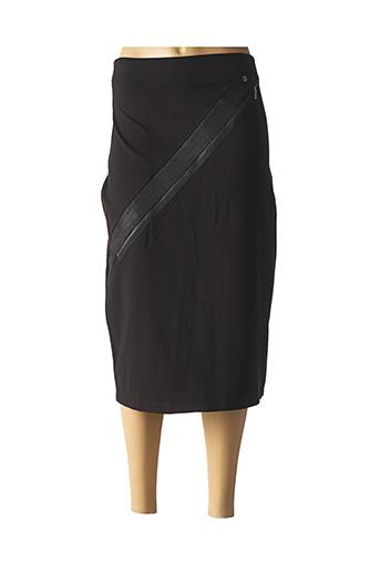 Jupe mi-longue noir FRED SABATIER pour femme