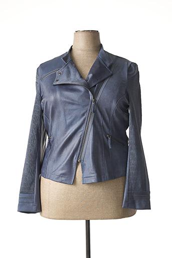 Veste casual bleu EVA KAYAN pour femme