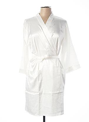 Robe de chambre blanc ROSE POMME pour femme