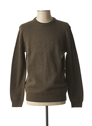 Pull col rond vert HARRIS WILSON pour homme