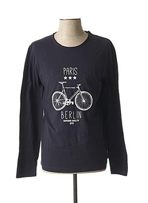 T-shirt manches longues bleu HARRIS WILSON pour homme